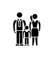 european family black icon sign on vector image