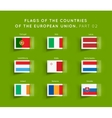 flags eu countries vector image