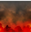 Forest fire vector image