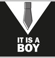 gentelman the bow tie - baby shower boy - little vector image vector image
