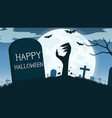 halloween background with zombies hand vector image vector image