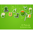 Happy St Patricks day greeting card vector image vector image