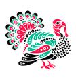 Happy Thanksgiving beautiful turkey tattoo symbol vector image