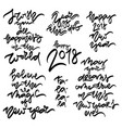 hew year 2018 hand drawn lettering vector image vector image