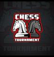 horse chessmen logo template vector image