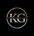 initial kg letter logo design abstract letter kg vector image vector image