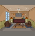 interior living room scene vector image vector image