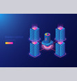 isometric power plant vector image vector image