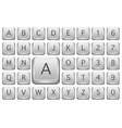 Keyboard Alphabet vector image vector image