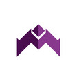 letter m up arrow logo icon vector image