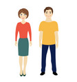 man and woman isolated white background vector image vector image