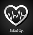 medical sign design vector image vector image