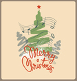 Merry christmas chelebration design vector image