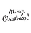 merry christmas lettering logo text design vector image