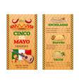 mexican cuisine menu cinco de mayo holiday vector image vector image