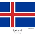 National flag of Iceland with correct proportions vector image