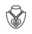 necklace isolated line style icon vector image vector image