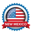 New Mexico and USA flag badge vector image vector image