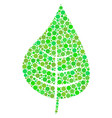 plant leaf mosaic of dots