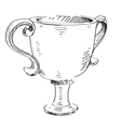 Prize trophy icon vector image vector image