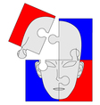 puzzle face vector image vector image
