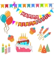 Retro Birthday Celebration Design Elements - for vector image vector image