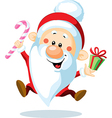 Santa Claus is looking forward to Christmas vector image vector image