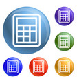 school calculator icons set vector image