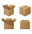 set boxes vector image