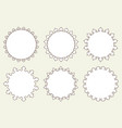 set of 6 very simple round frames with fully vector image vector image