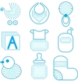 Set of babys symbols vector image