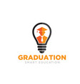smart graduation logo designs for education icon vector image