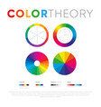 template with circles color theory vector image vector image