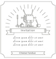 The invitation of the linear icons vector image vector image