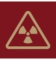 The radiation icon Radiation symbol Flat vector image vector image