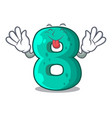 tongue out number eight volume logo the mascot vector image vector image