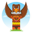 totem ancient beliefs and cults design gaming vector image vector image