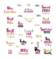 Typography set for business design vector image