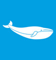 whale icon white vector image
