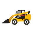 wheel loader vehicle icon vector image