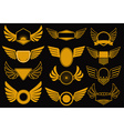 wings gold collection vector image vector image