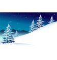 winter mountain landscape vector image vector image