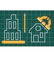 Construction plan blueprint vector image