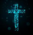 cross of light vector image
