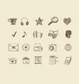 drawn web icons vector image