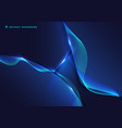 abstract blue geometric with wavy line