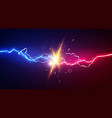 abstract electric lightning concept for battle vector image vector image
