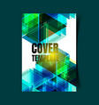 abstract report cover 3 vector image vector image