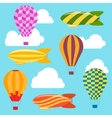 Air Balloons and Airships Background vector image
