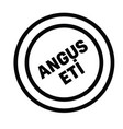 angus beef stamp in turkish vector image vector image